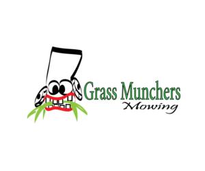 grass munchers mowing logo design by veena16