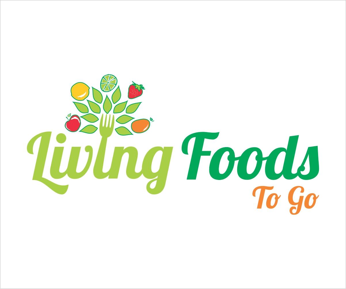 Colorful Bold Restaurant Logo Design For Living Foods To