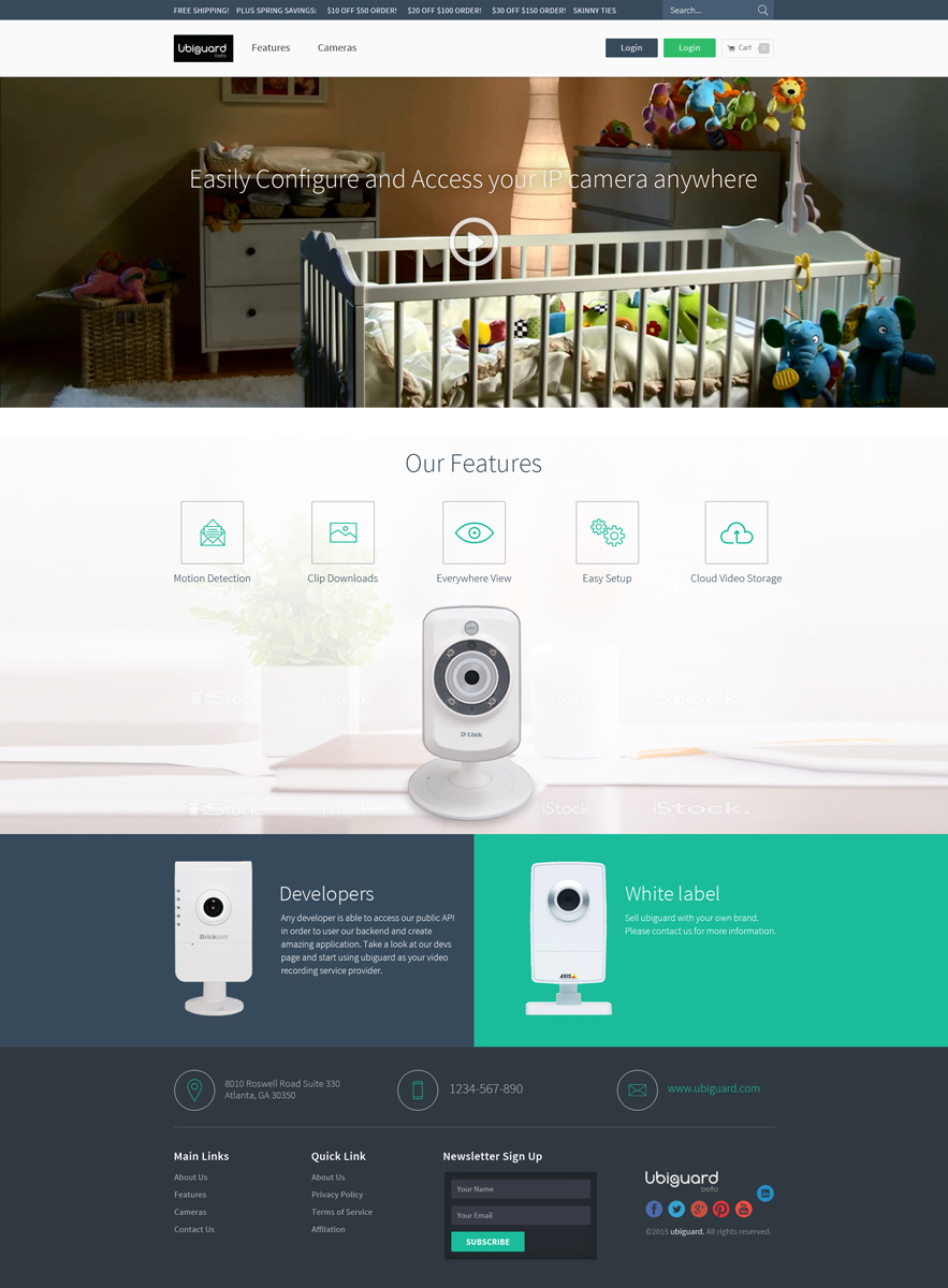 Modern Professional Camera Web Design For A Company By Hih7 Design 6870557