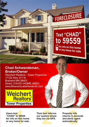 real estate text messaging info for house buyers and home sellers flyer design by atvento