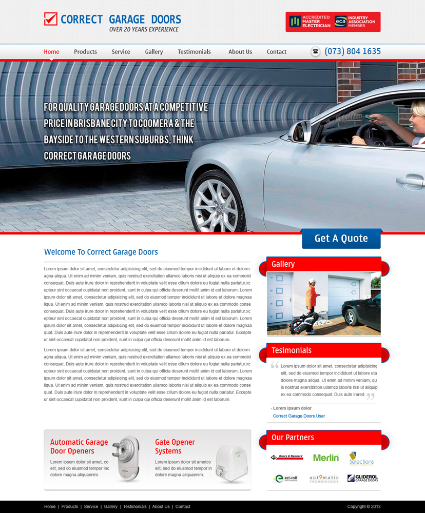 Elegant Playful Garage Web Design For A Company By Atom It