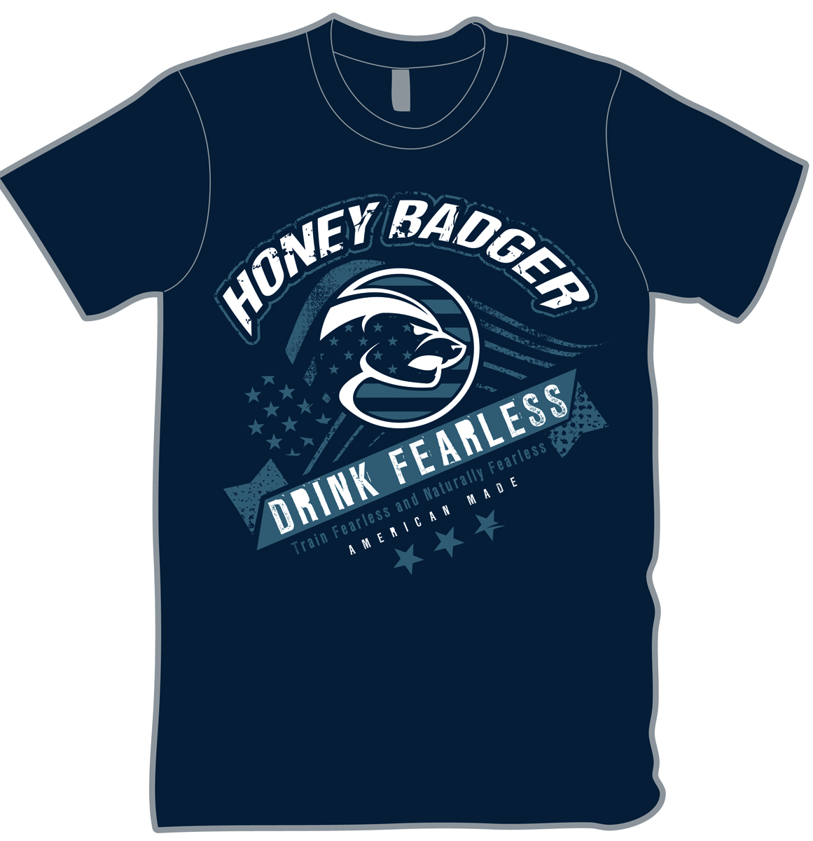 Modern professional t shirt design for honey badger llc for Modern t shirt designs