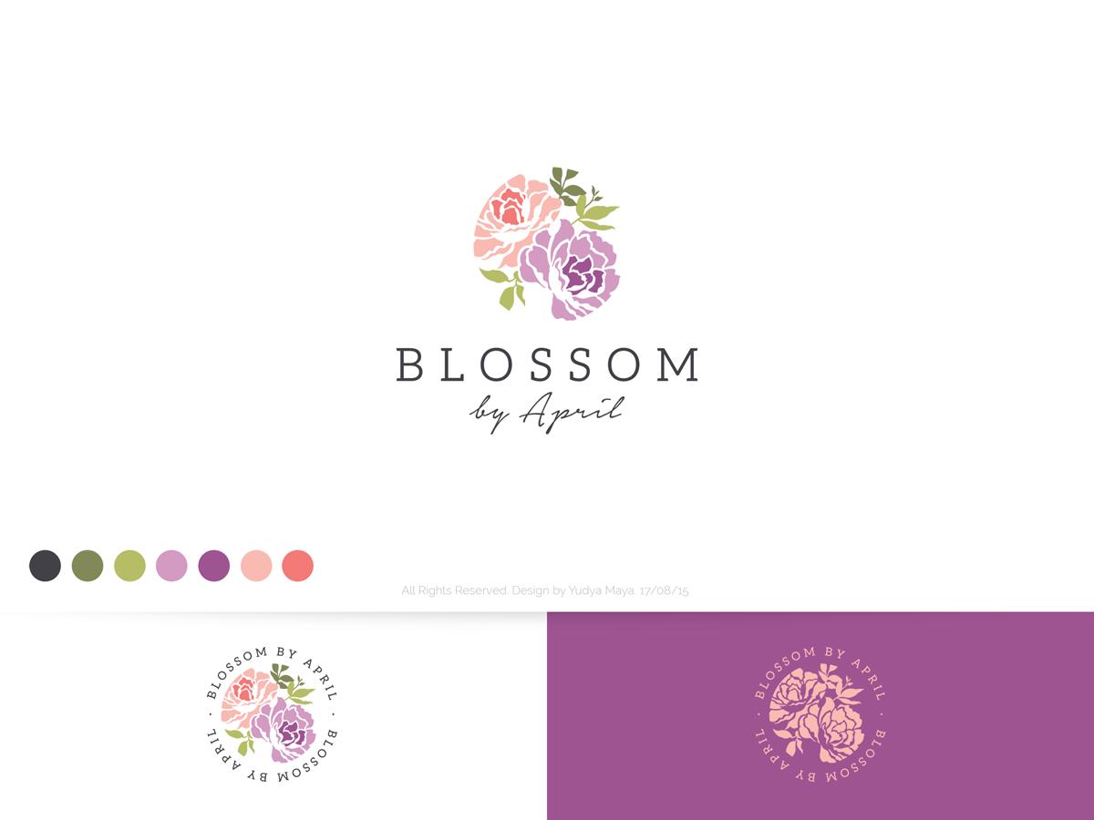 Elegant Traditional Florist Logo Design For Blossom By April In United Kingdom 7003248