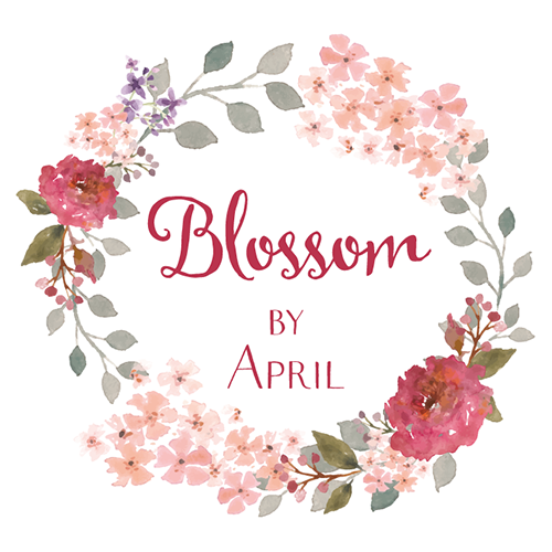 elegant traditional logo design for blossom by april by