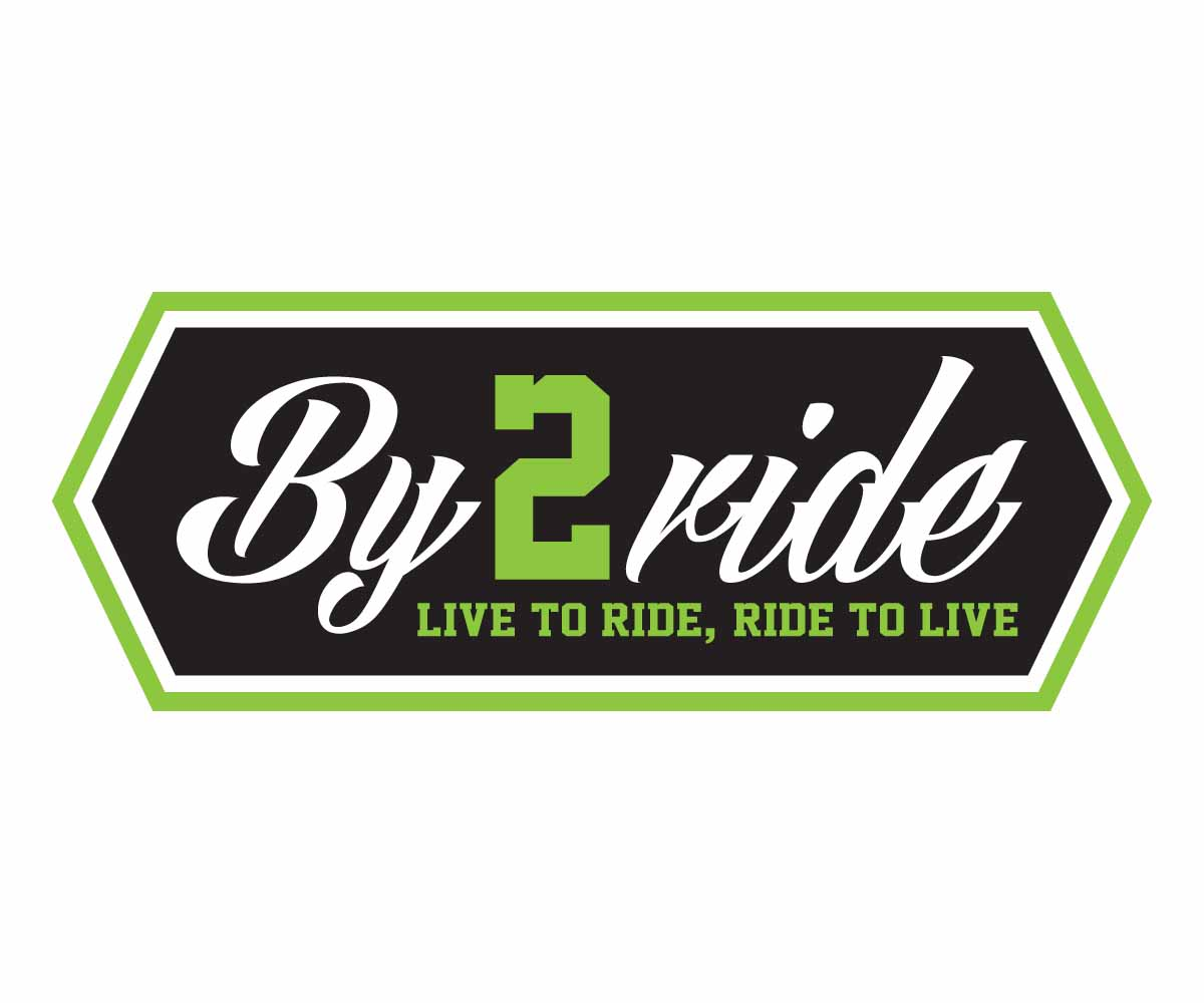 serious modern construction logo design for by2ride live to ride ride to live by john. Black Bedroom Furniture Sets. Home Design Ideas