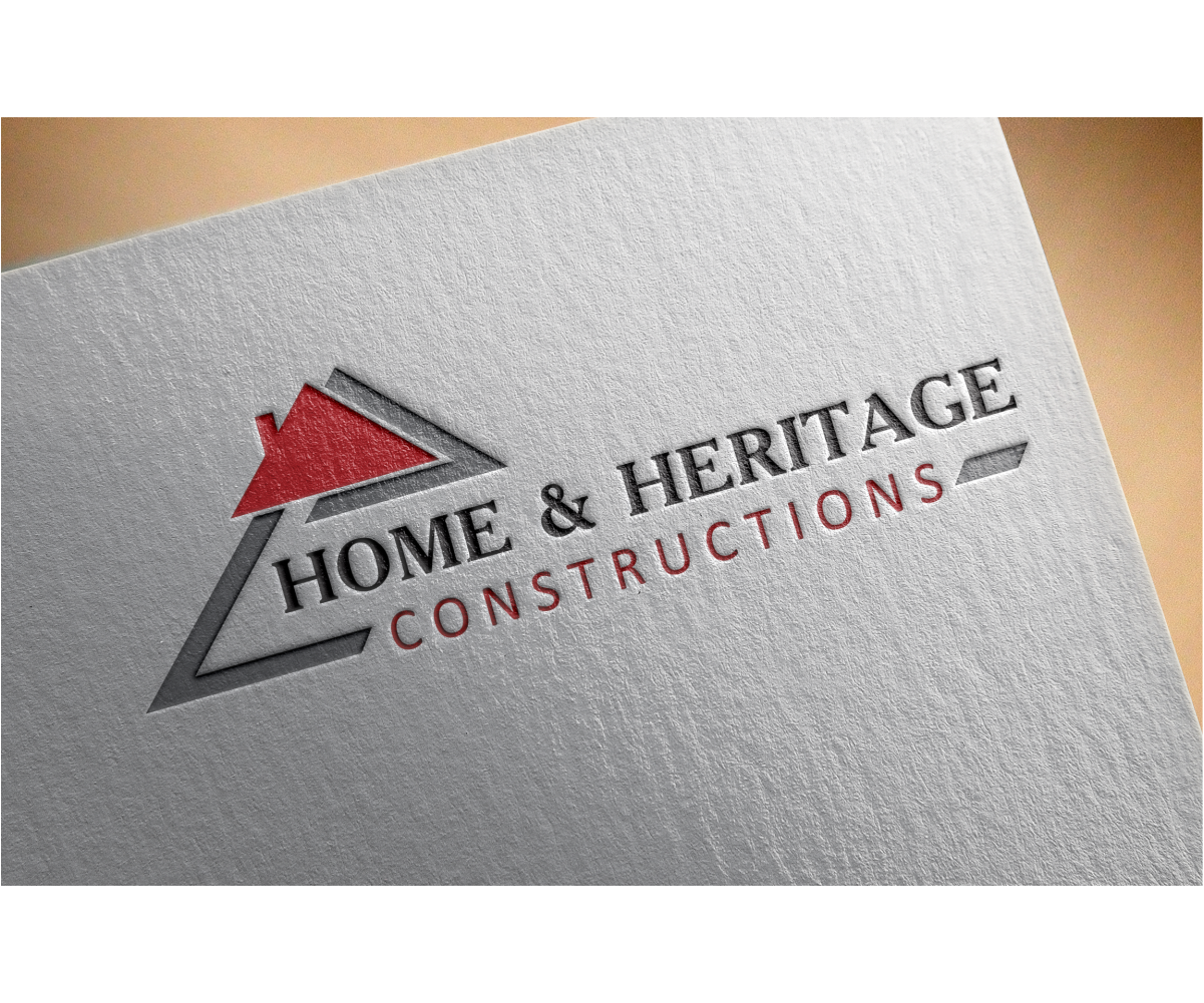 Logo design by desdesign for home heritage constructions design 6961691