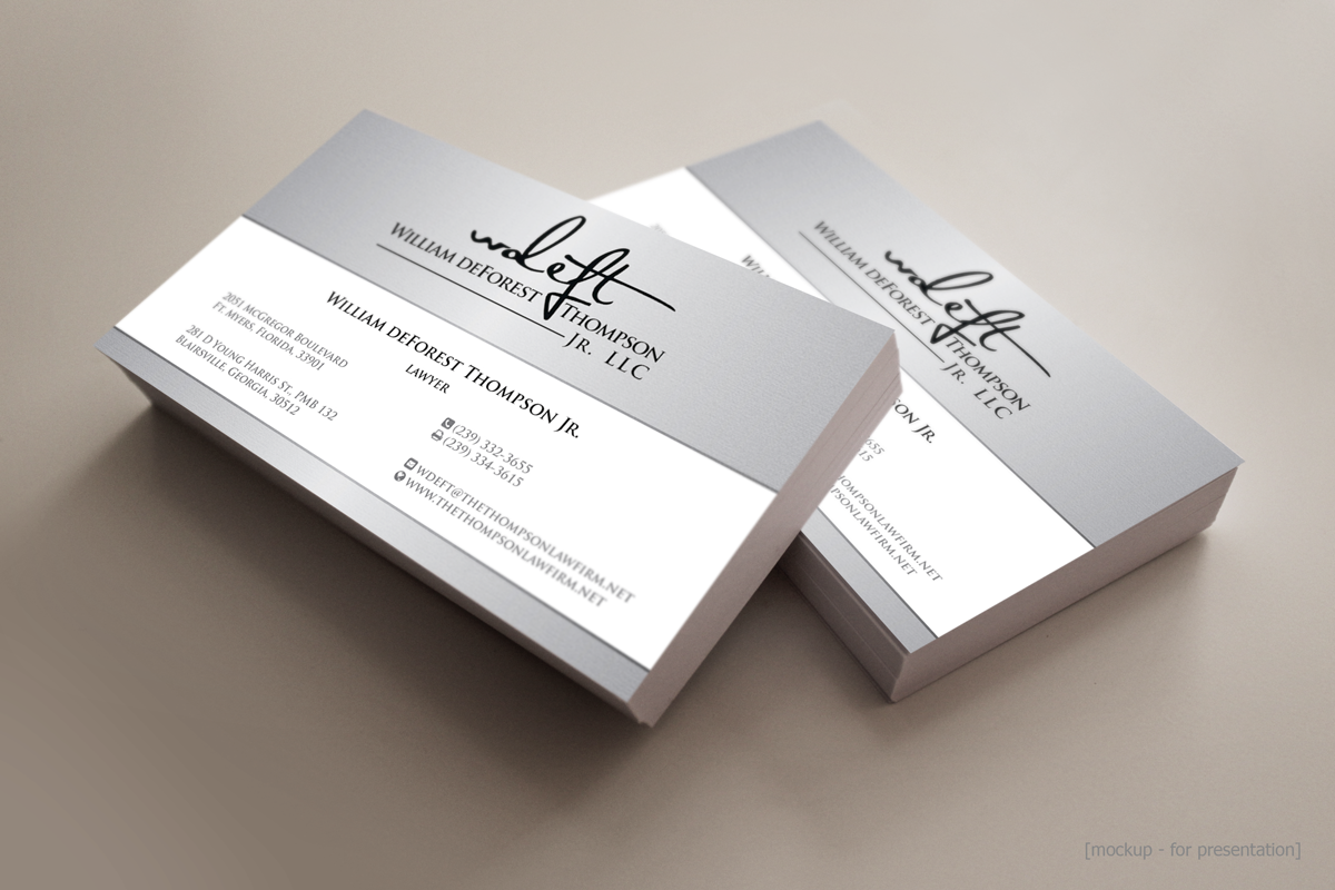 Serious, Upmarket, Business Business Card Design for William ...