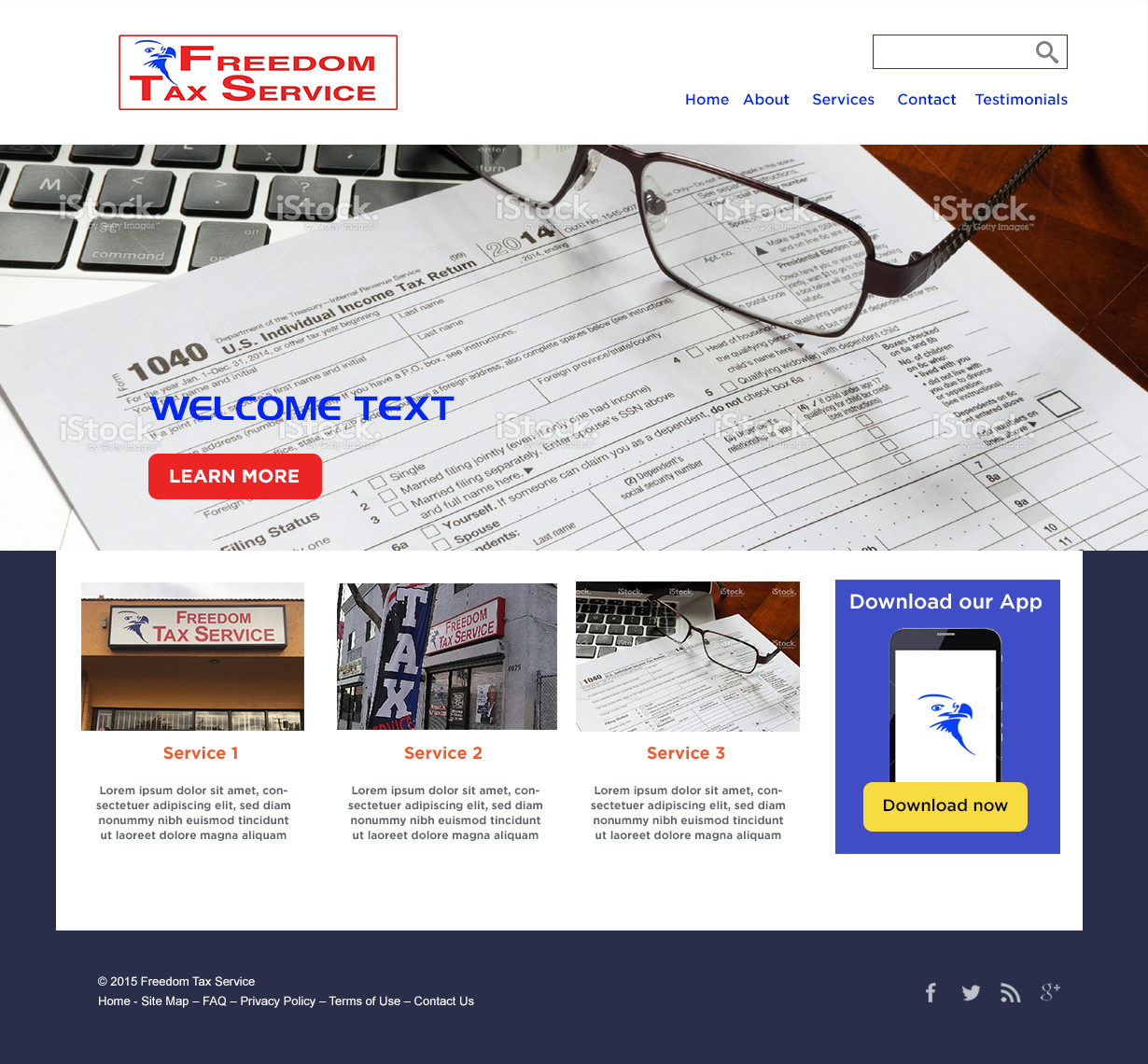 Modern, Professional, Professional Service Weebly Design for