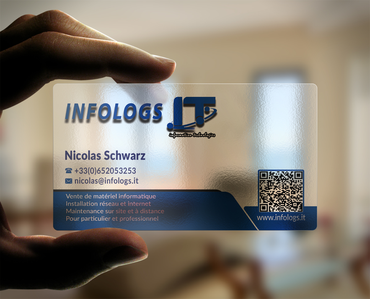 Modern professional business card design for infologs sarl by business card design by nuhanenterprise for local computer reseller and it assistant by remote desktop magicingreecefo Images