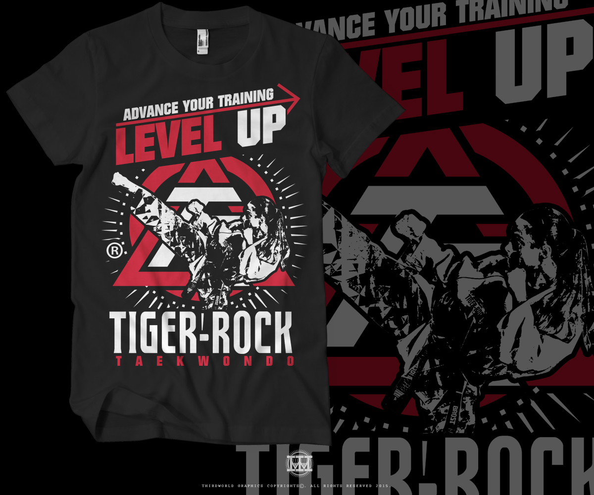Personable Masculine Retail T Shirt Design For Tiger Rock Martial