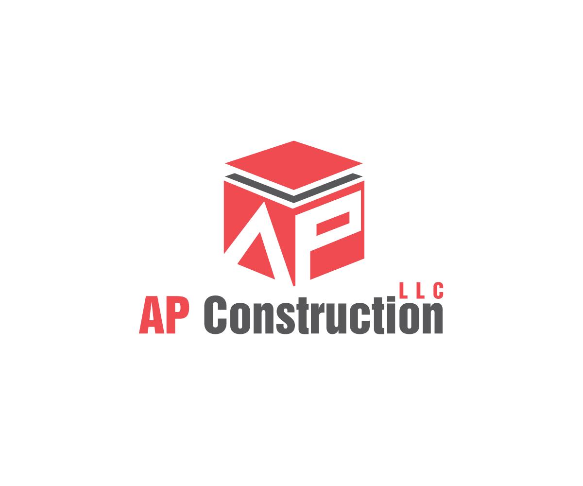 playful professional logo design for ap construction llc. Black Bedroom Furniture Sets. Home Design Ideas