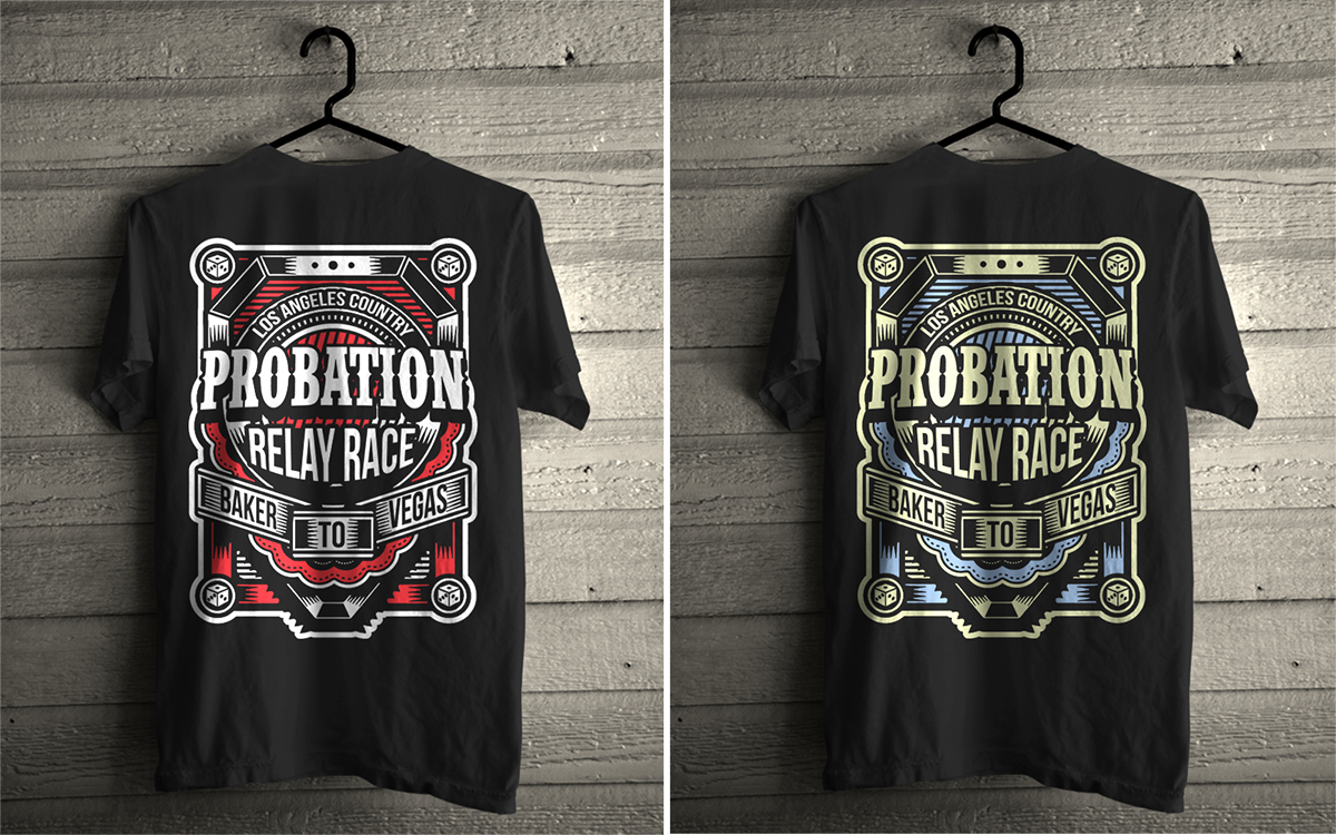 T-shirt design questionnaire - T Shirt Design By Mr Tee For L A County Probation Baker To Vegas Team