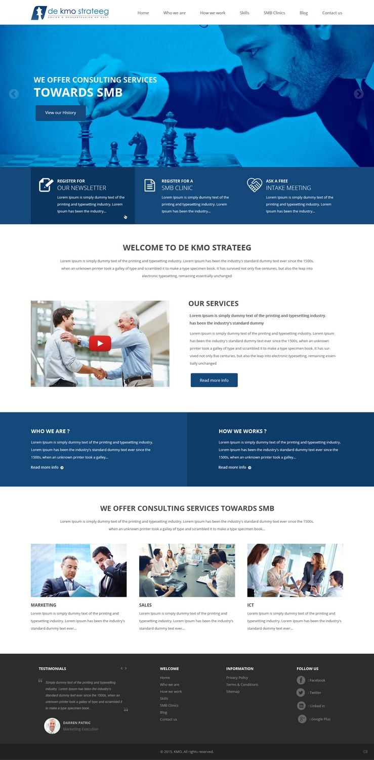 Modern colorful management consulting web design for de for Web design consultant