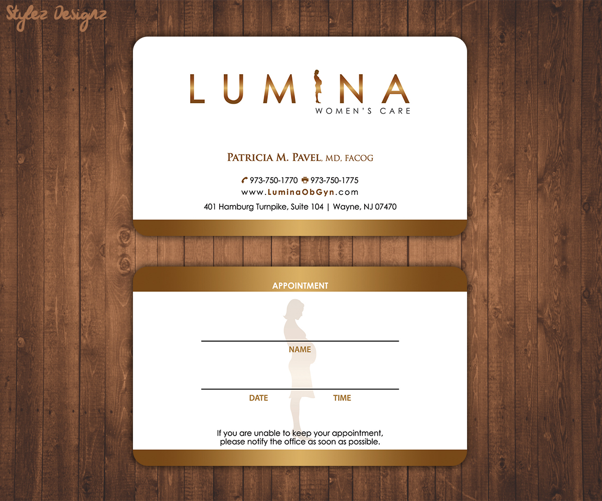 32 elegant business card designs health care business card design business card design by stylez designz for lumina womens care design reheart Image collections