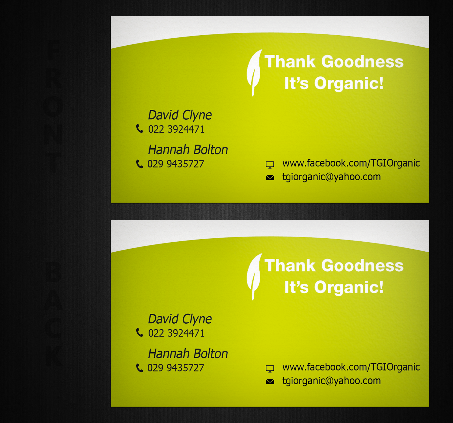Playful colorful business business card design for thank goodness business card design by creation lanka for thank goodness its organic reheart Gallery