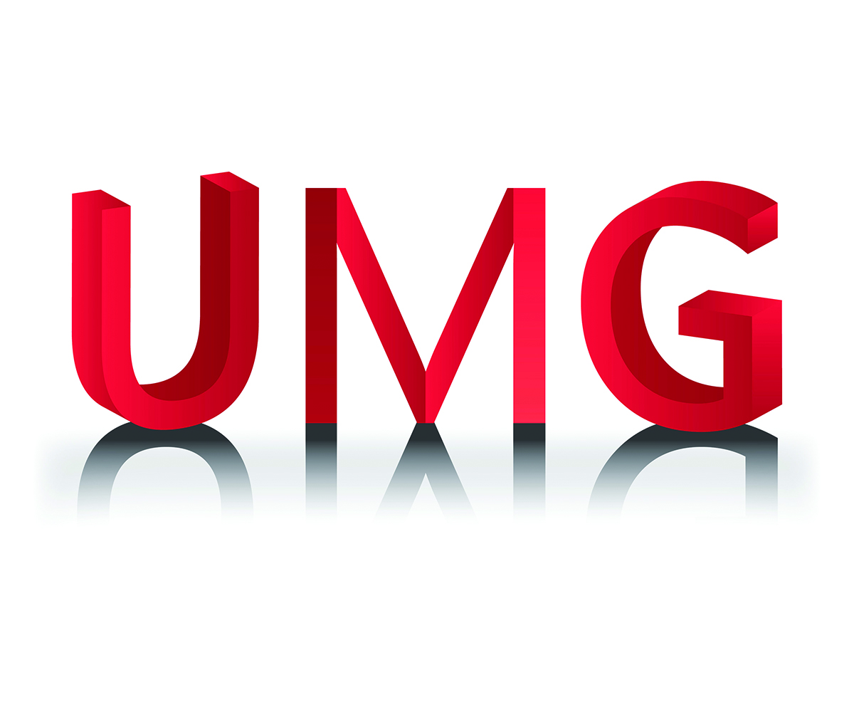 modern professional painting logo design for umg by