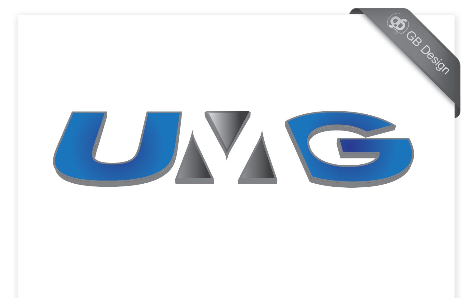 modern professional painting logo design for umg by gb