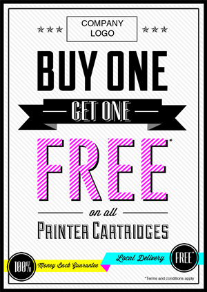 Flyer Design by Vroomstick - Manchester Printer Cartridges 2-4-1