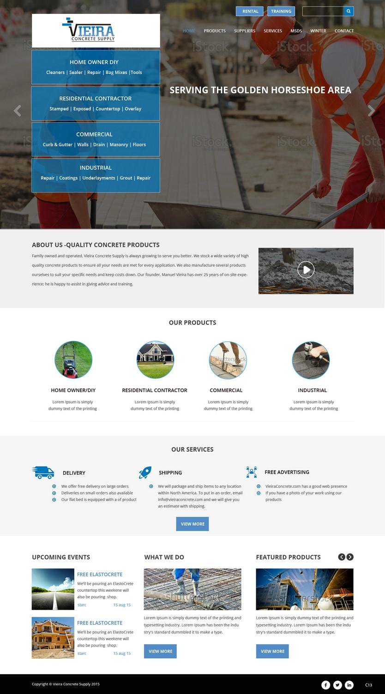 Masculine modern concrete web design for a company by pb for Masculine web design