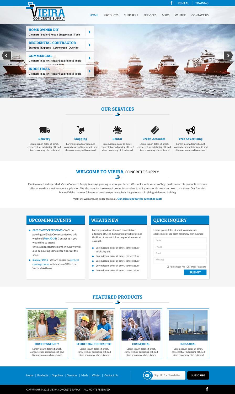 Masculine modern concrete web design for a company by for Masculine web design