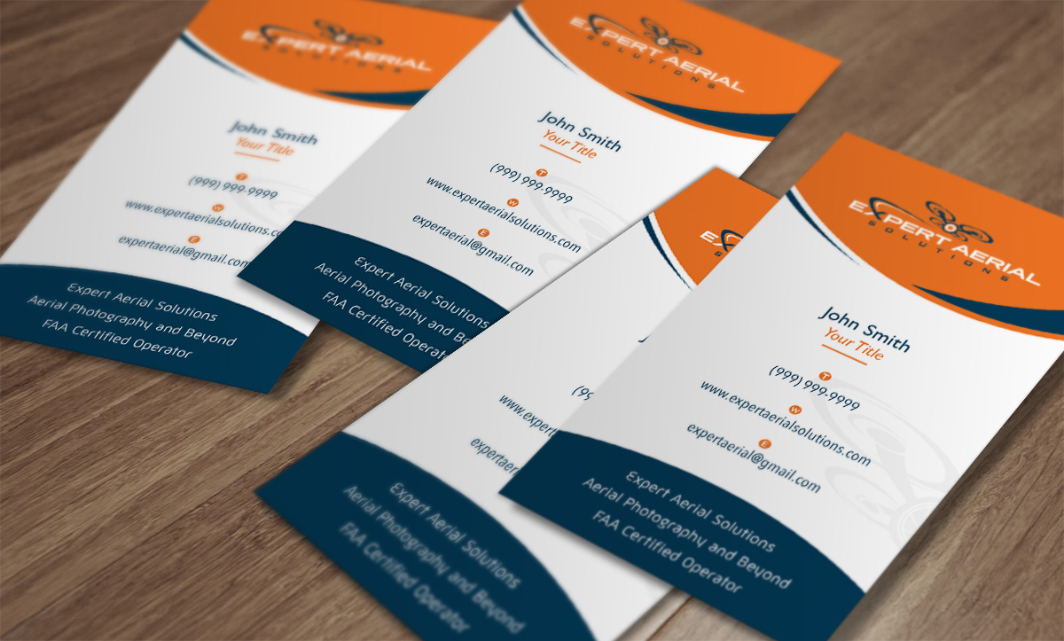 Elegant playful business card design for andrew panayotoff by rikaz business card design by rikaz for south florida drone company needs new business card design reheart Choice Image