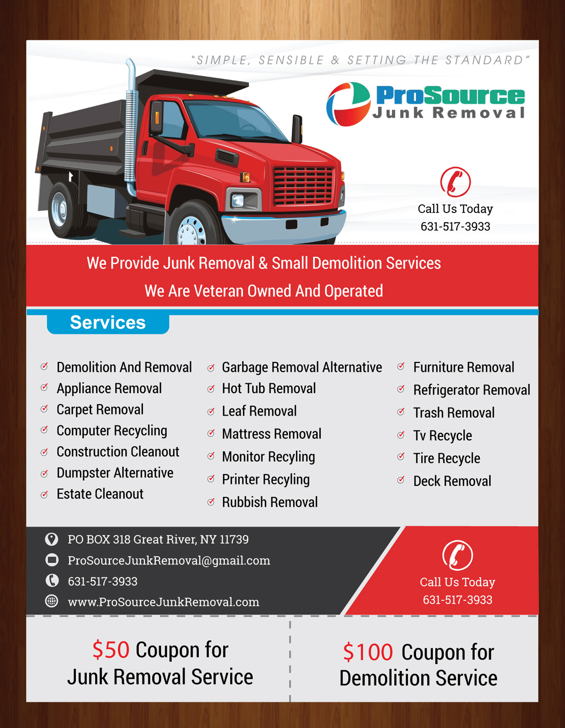 bold playful junk removal flyer design for a company in united states design 6937686