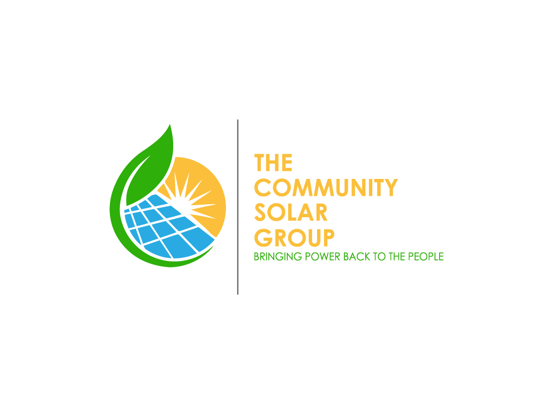 Professional modern logo design for the community solar Design a new logo