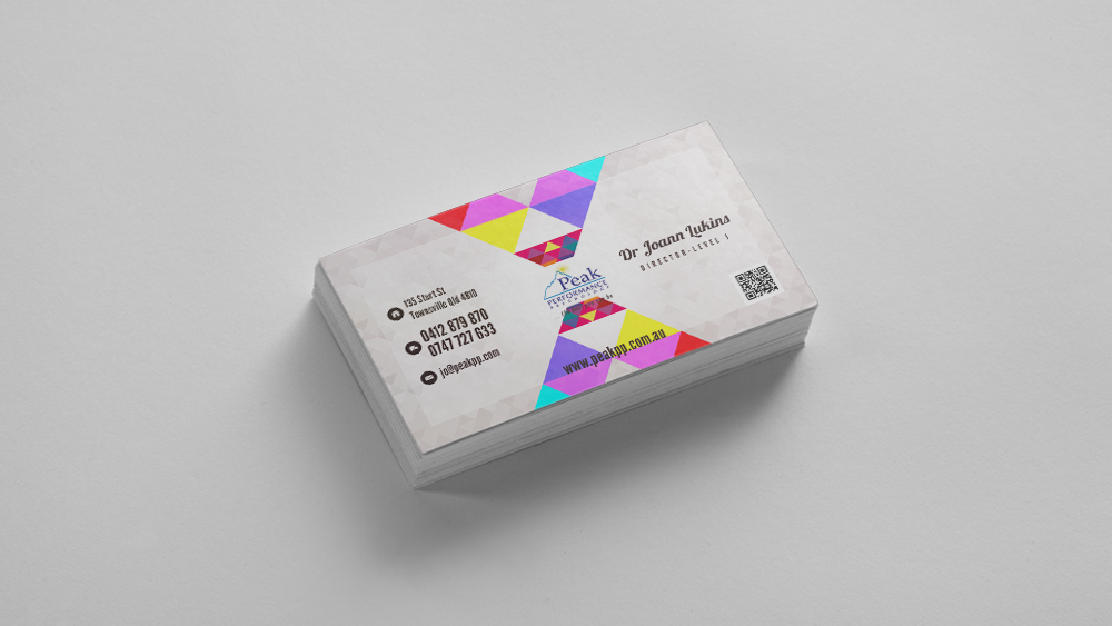Modern, Professional Business Card Design for Peak Performance ...