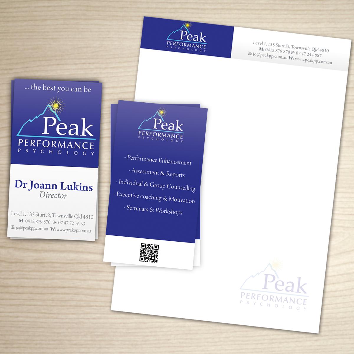 Design De Carte Visite Moderne Professionnelle Business Pour Peak Performance Psychology En Aux Australia