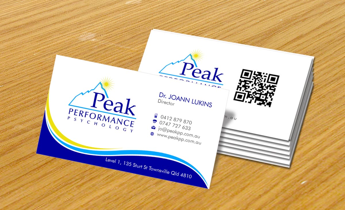 Modern, Professional Business Card Design for Peak Performance ...