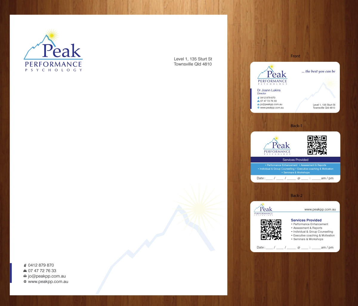 Modern professional business card design for peak performance business card design by smart for performance psychology business card design letterhead design magicingreecefo Choice Image