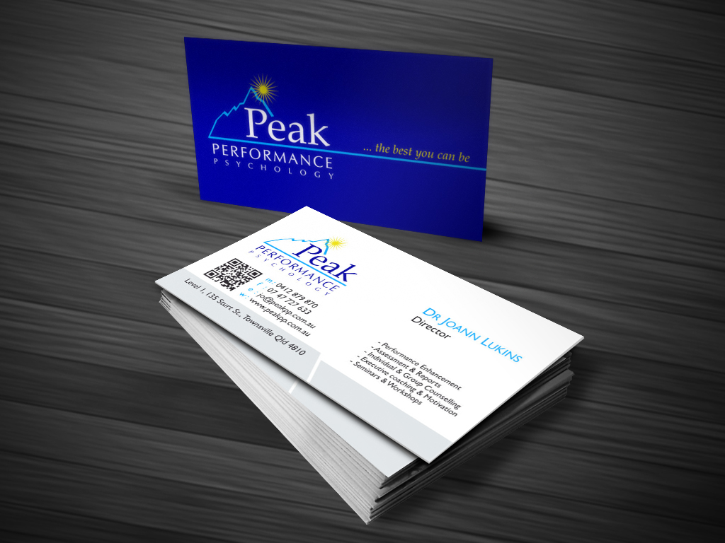 Modern professional business card design for peak performance business card design by atvento graphics for performance psychology business card design letterhead design magicingreecefo Choice Image