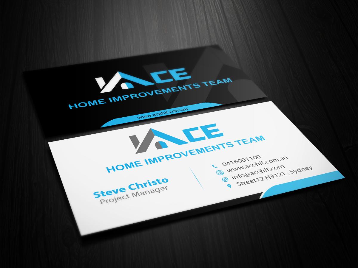 Business Business Card Design For Ace Home Improvements Team By Primarydesigner2k9 Design 6936868