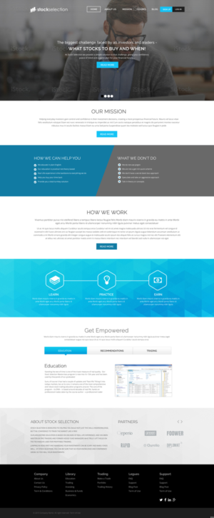Elegant, Playful, Education Web Design for a Company by iLibart
