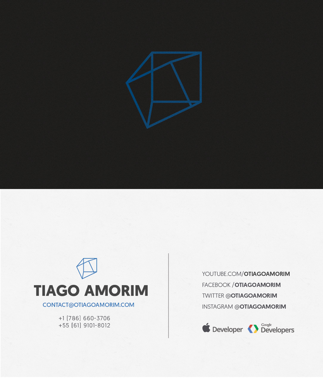 169 modern business card designs business business card design business card design by polygronn for tiago amorim design 6983791 reheart Image collections