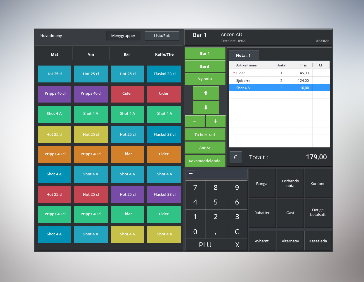 Elegant serious app design for ancon by emango design for Restaurant layout design software