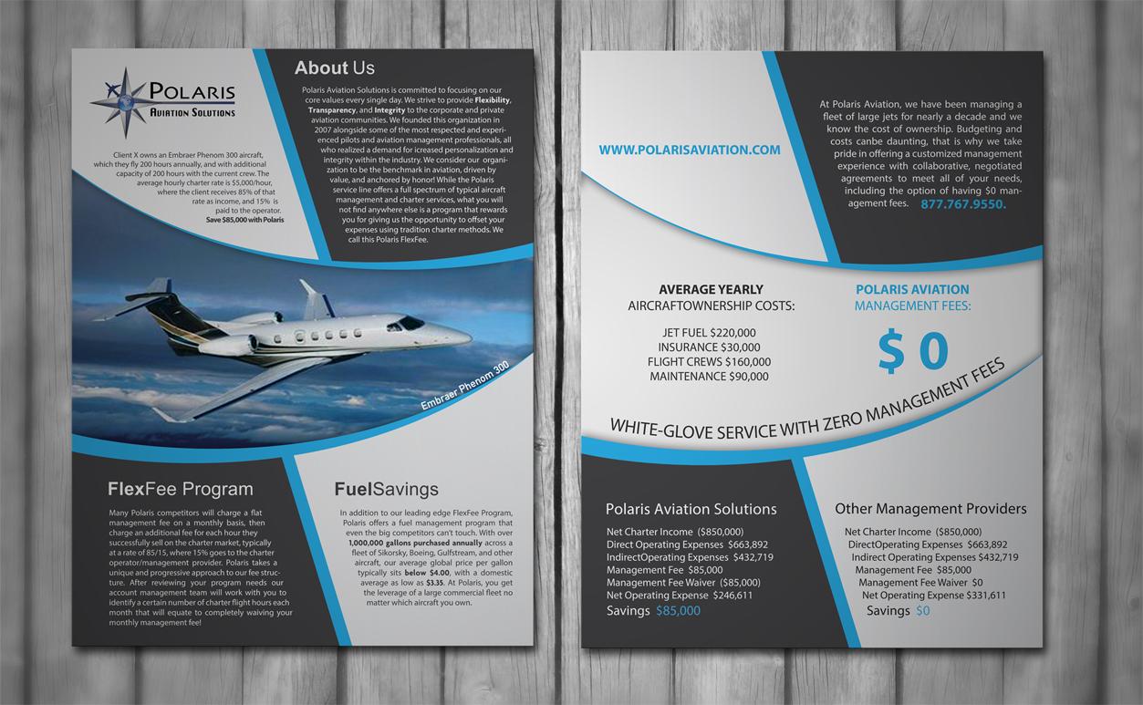 elegant playful travel industry flyer design for polaris aviation