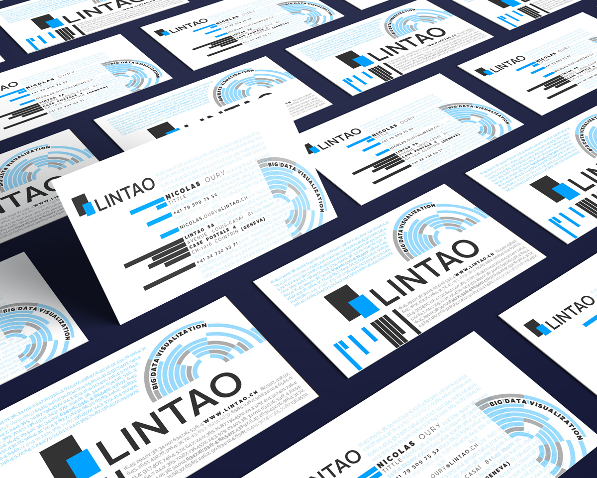 Elegant modern business software business card design for lintao business card design by at as for lintao sa design 7034259 reheart Image collections