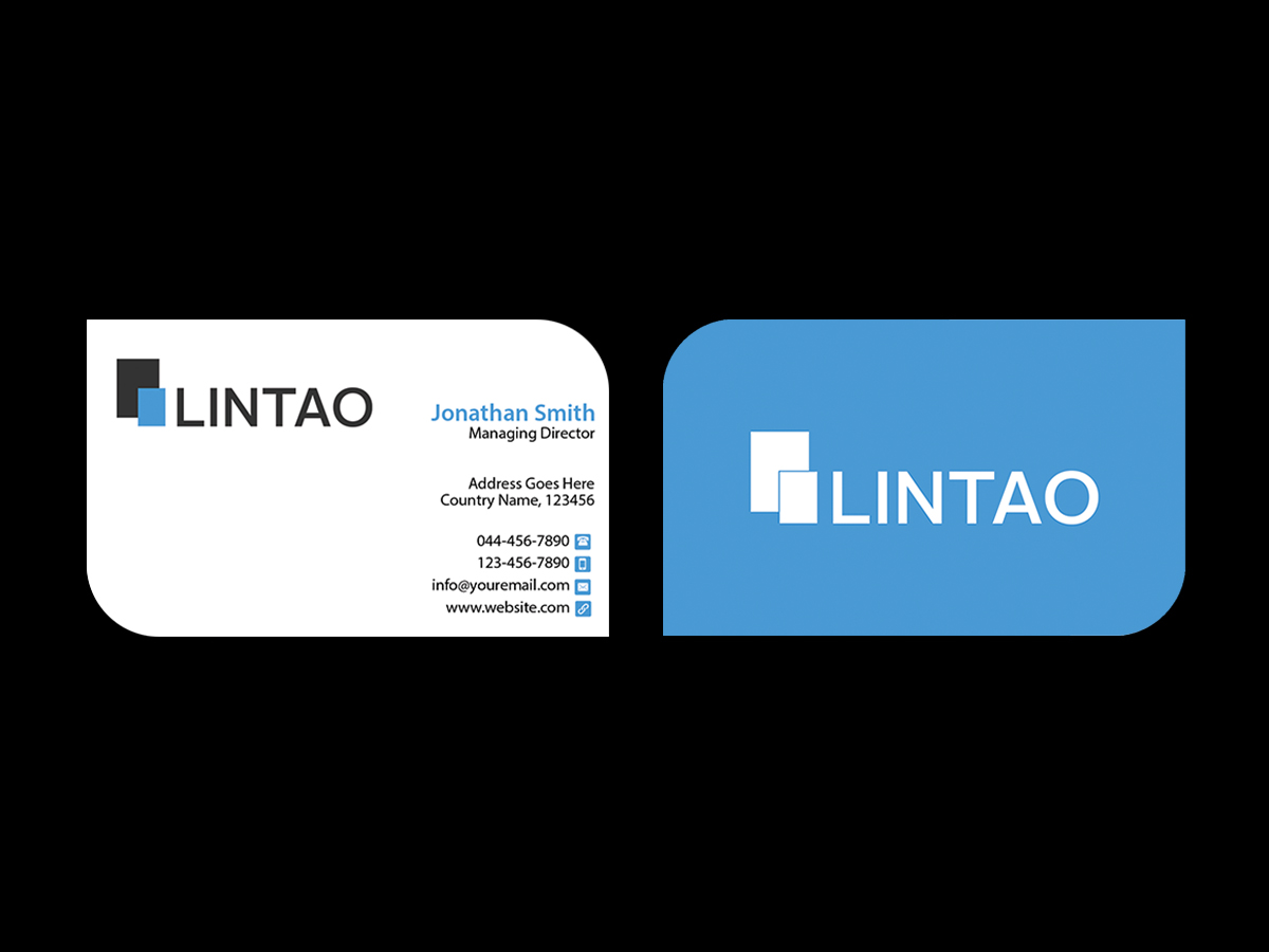 Elegant modern business software business card design for lintao business card design by creations box 2015 for lintao sa design 6947530 reheart Choice Image