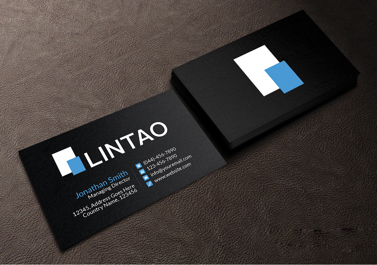 Elegant modern business software business card design for lintao business card design by creations box 2015 for lintao sa design 6947550 reheart Image collections