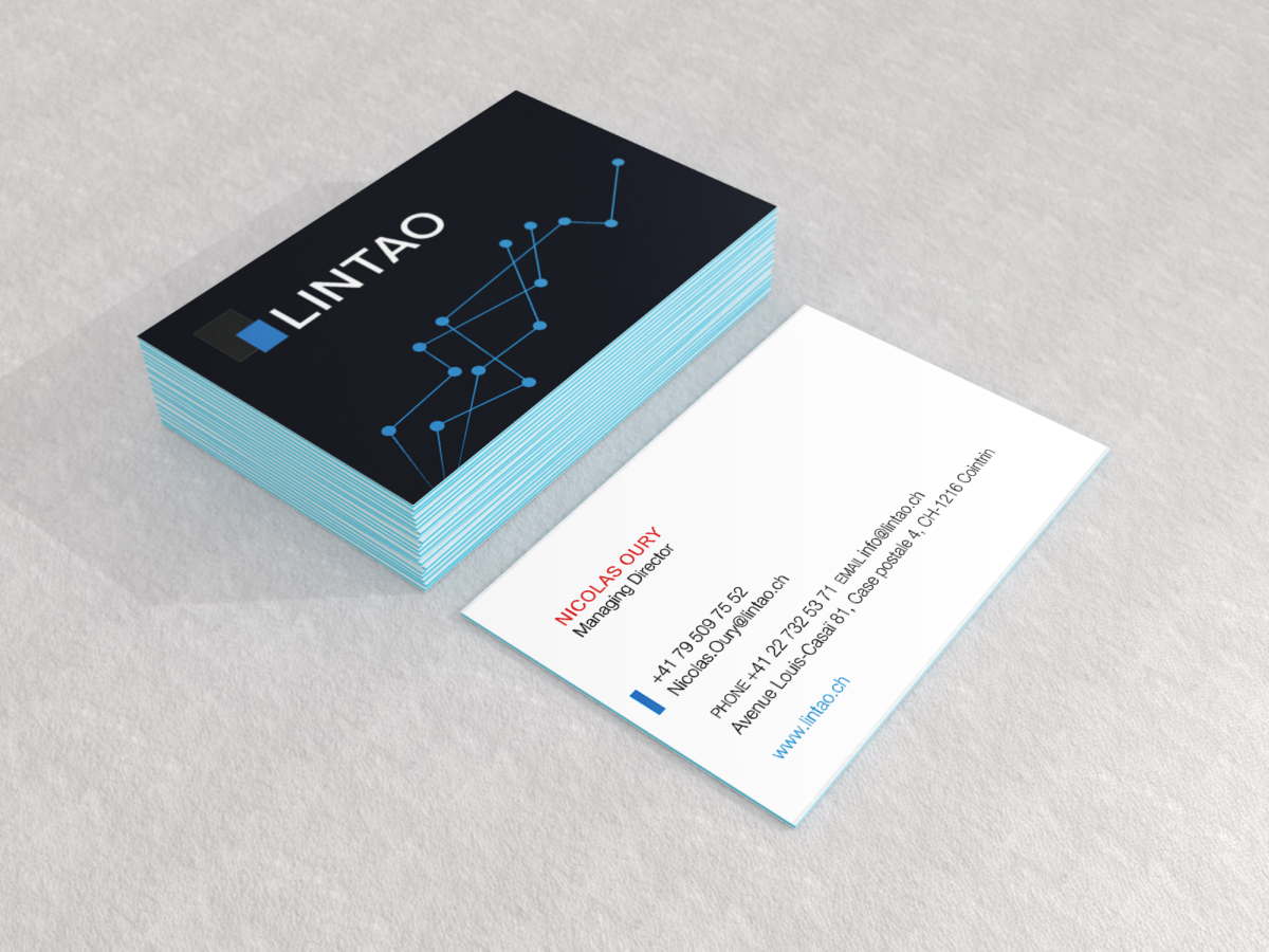 Elegant, Modern, Business Software Business Card Design for Lintao ...
