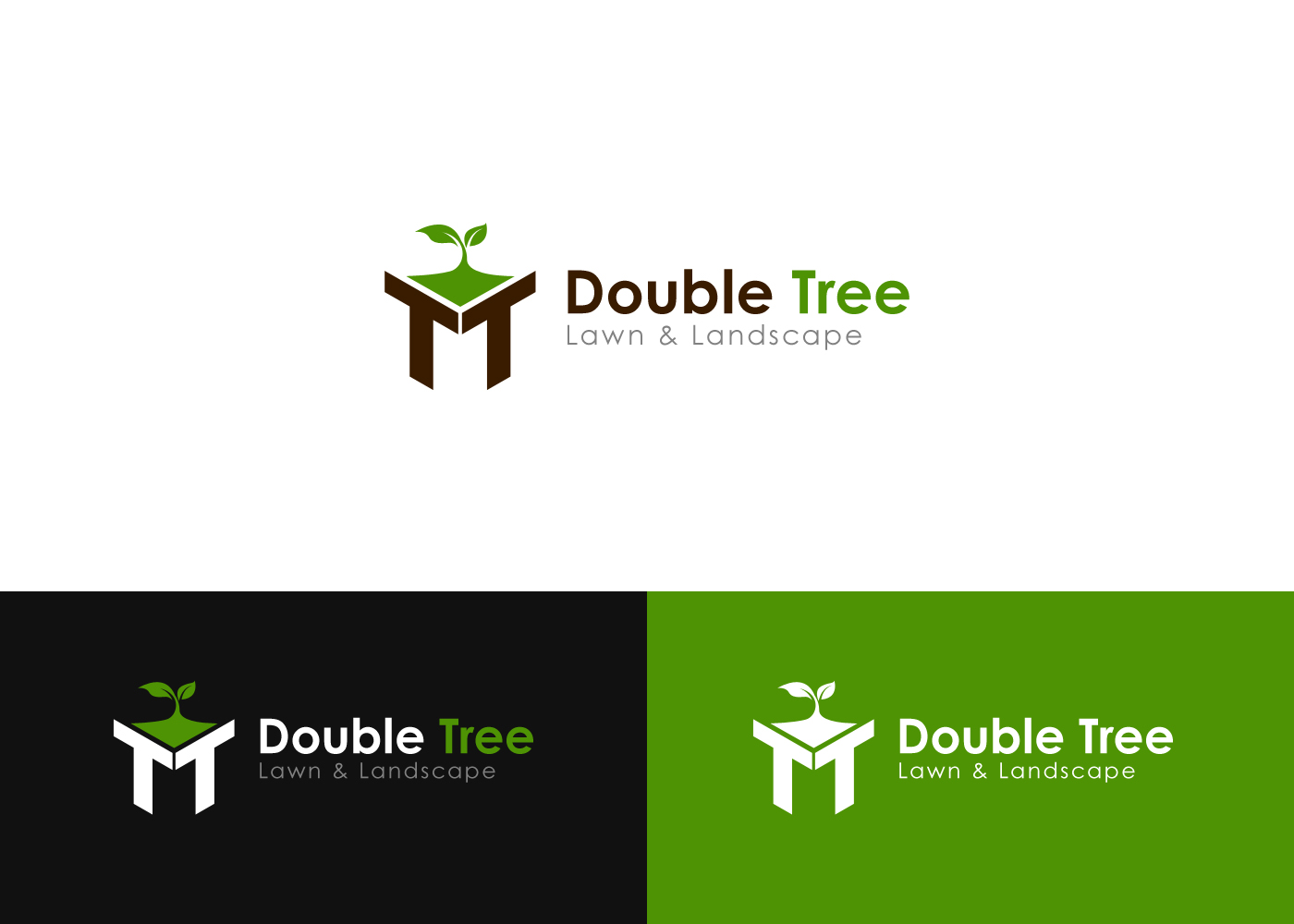Elegant, Playful Logo Design for Double Tree Lawn and Landscape by ...