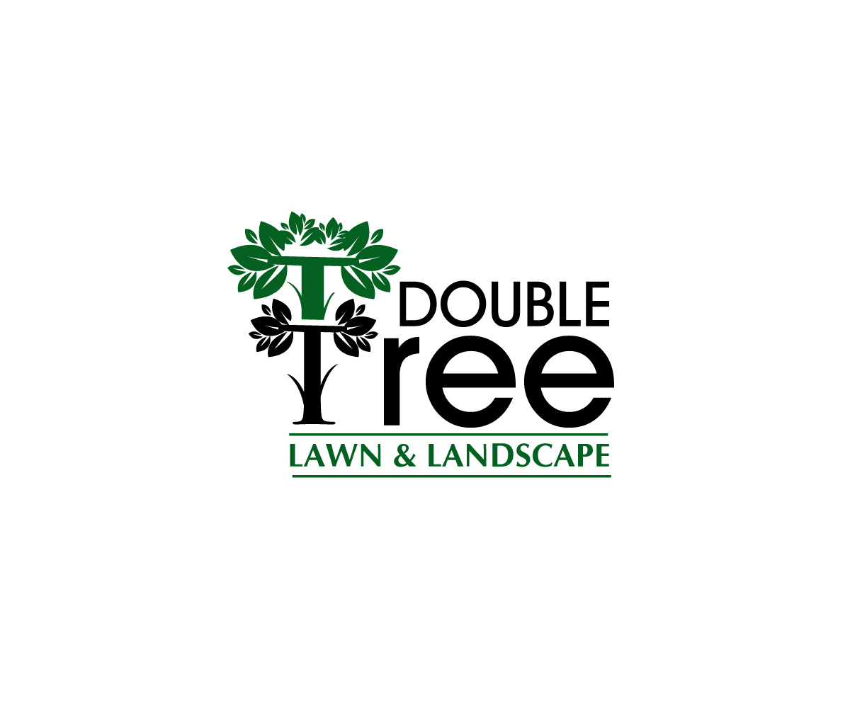 L Gant Amusant Logo Design For Double Tree Lawn And