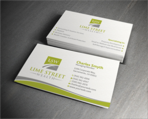 professional conservative business card design for lime street