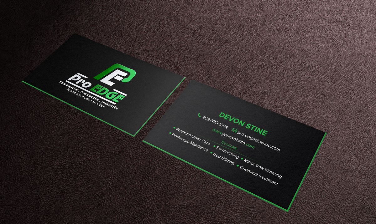 Professional, Serious Business Card Design for Devon Stine by ...