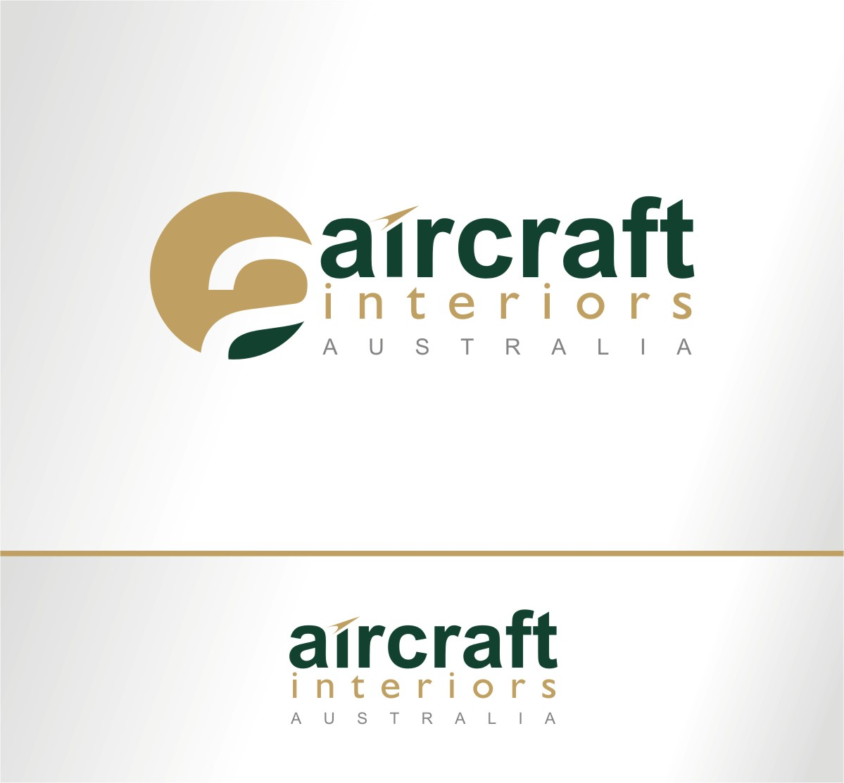 professional serious it company logo design for aircraft interiors australia or aia. Black Bedroom Furniture Sets. Home Design Ideas