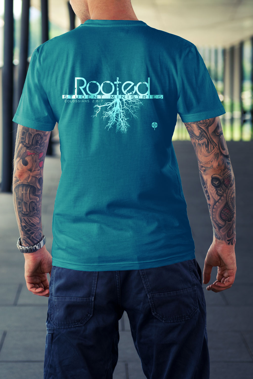 T Shirt Design By Red Kanvas For Rooted Student Ministries T Shirt   Design