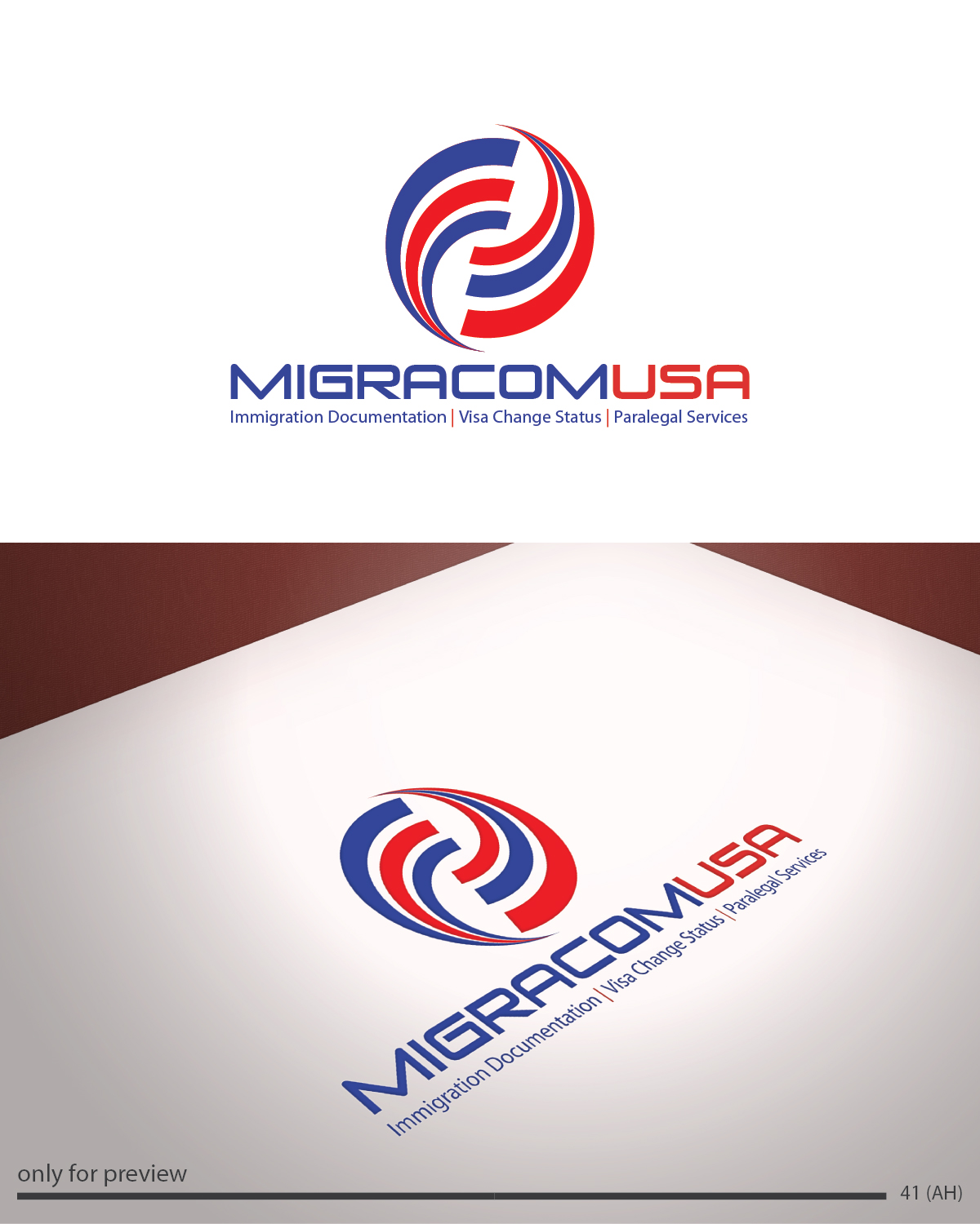 Professional elegant logo design for migracom usa by for Design company usa