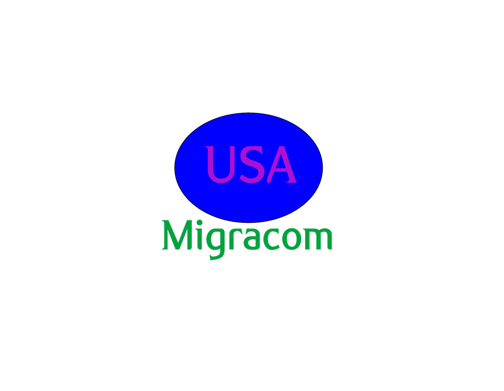 Professionnelle l gant logo design for migracom usa by for Design company usa