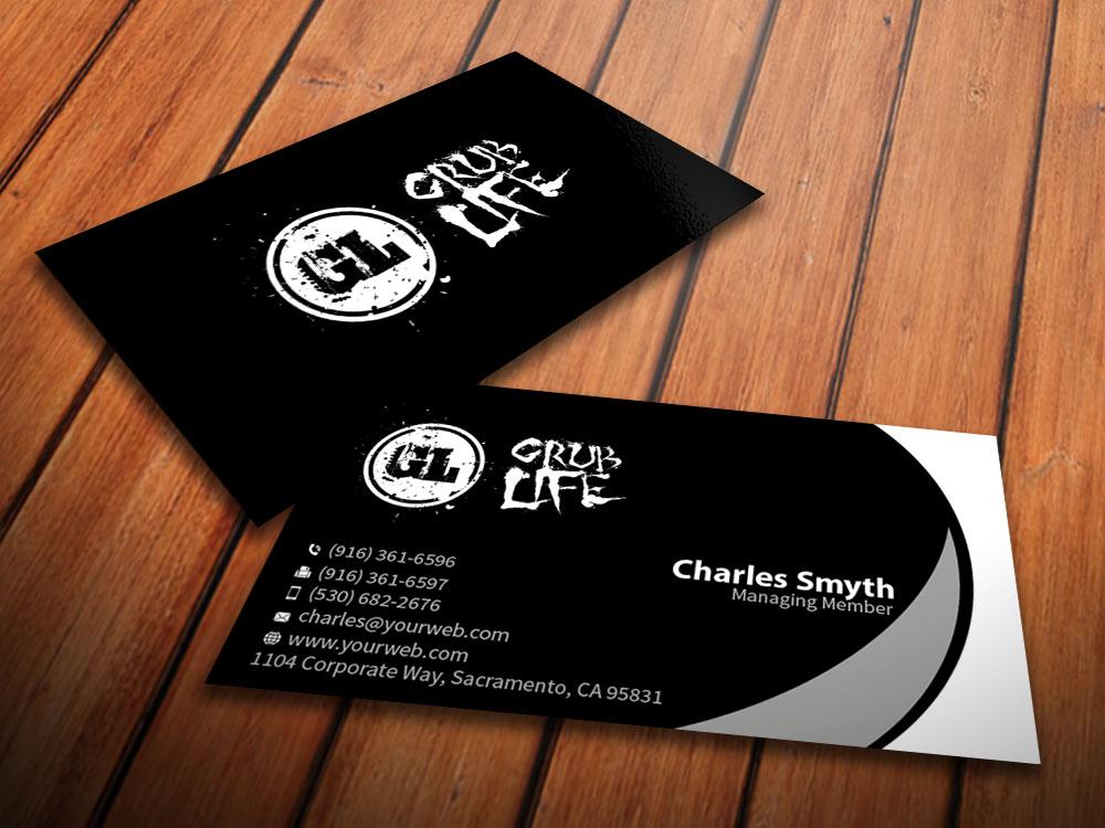 Elegant, Playful Business Card Design for Grub Life by ...